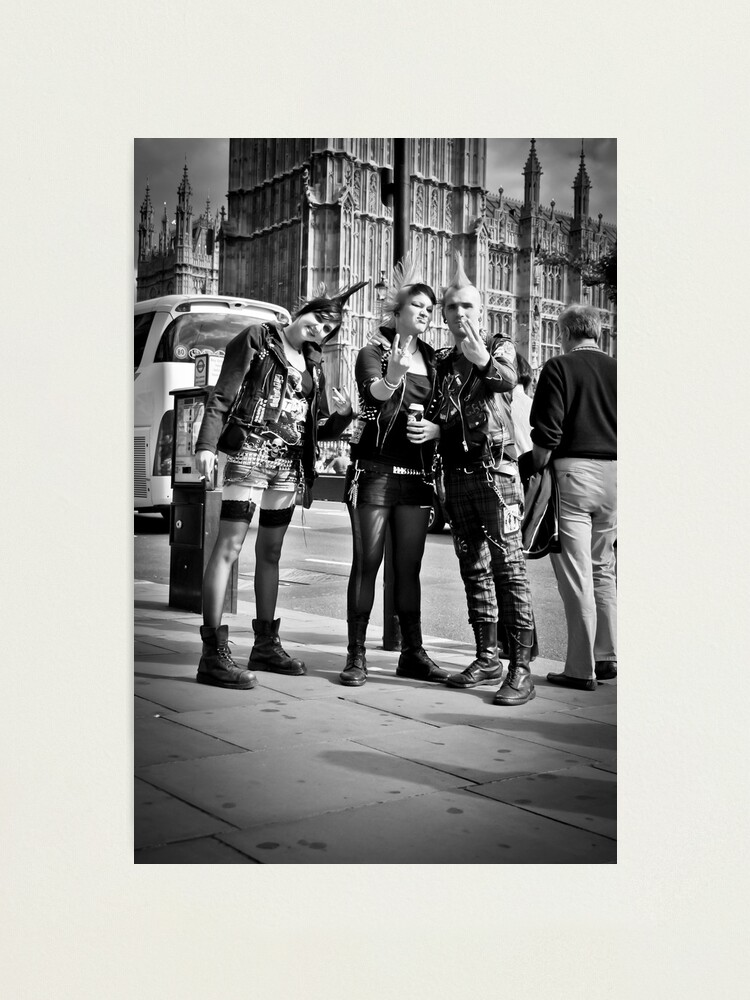 Alternate view of Punks in London: Punk Rockers Photographic Print