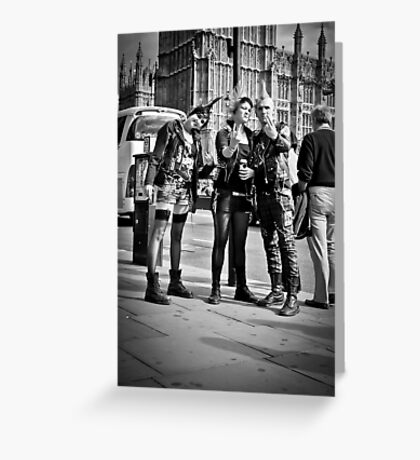 Punks in London: Punk Rockers Greeting Card