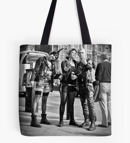 Punks in London: Punk Rockers Tote Bag