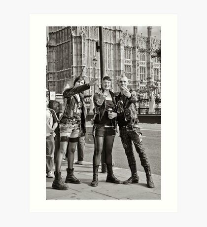 Punk Rockers in London, UK. Art Print