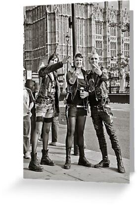 Punk Rockers in London, UK. by DonDavisUK