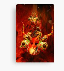 Red Dragon...brings luck Canvas Print