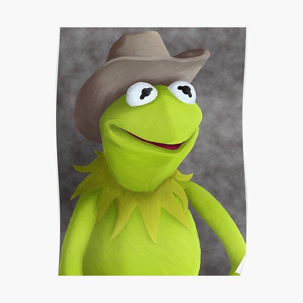 Cowboy Hat Kermit Portrait Poster