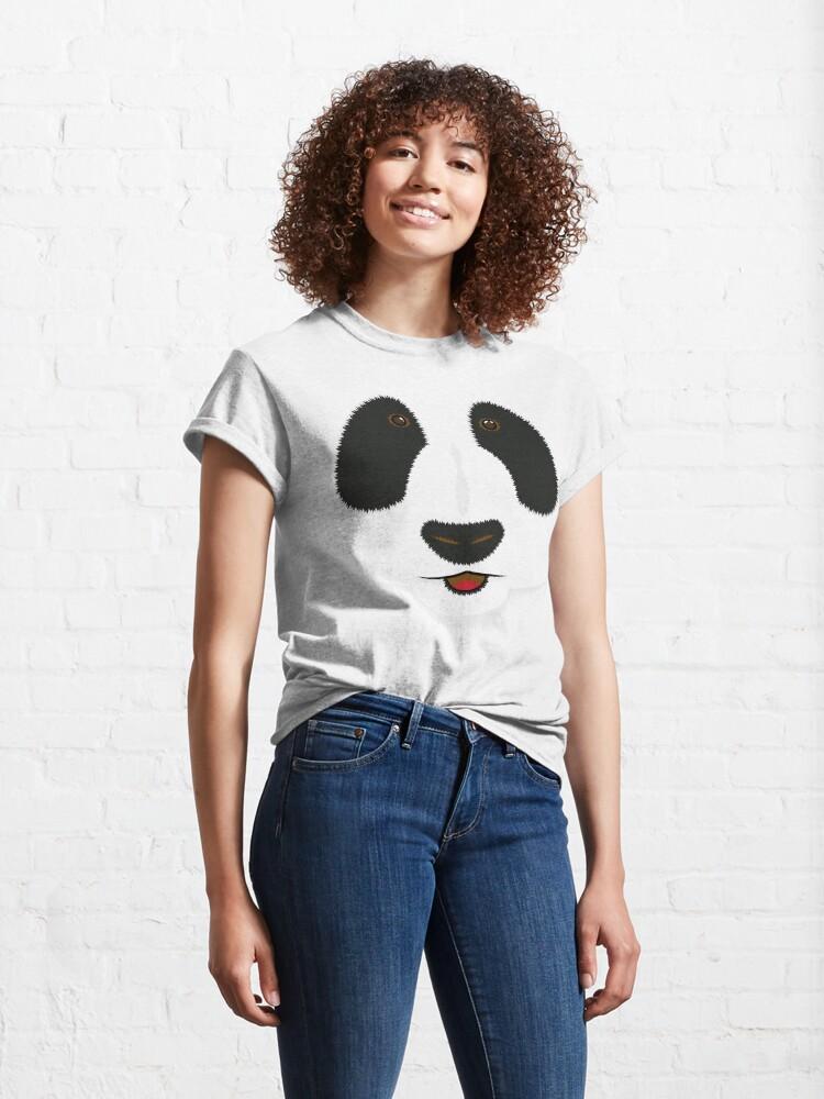 Alternate view of Panda face Classic T-Shirt