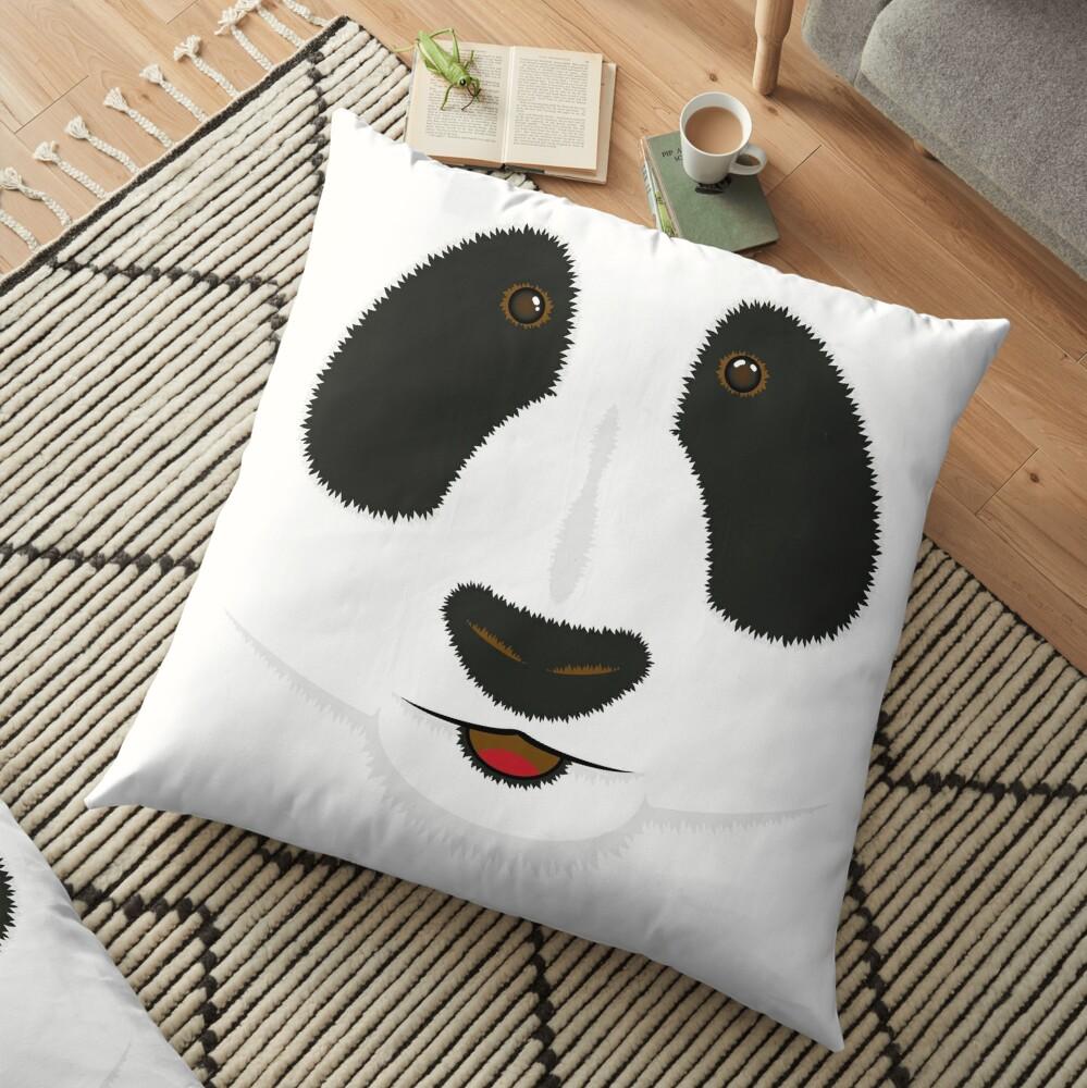 Panda face Floor Pillow