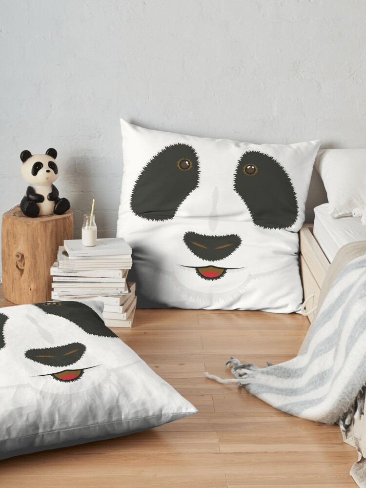 Alternate view of Panda face Floor Pillow