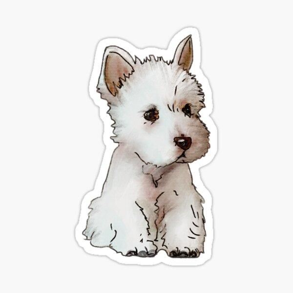 Puppy Westie  Sticker