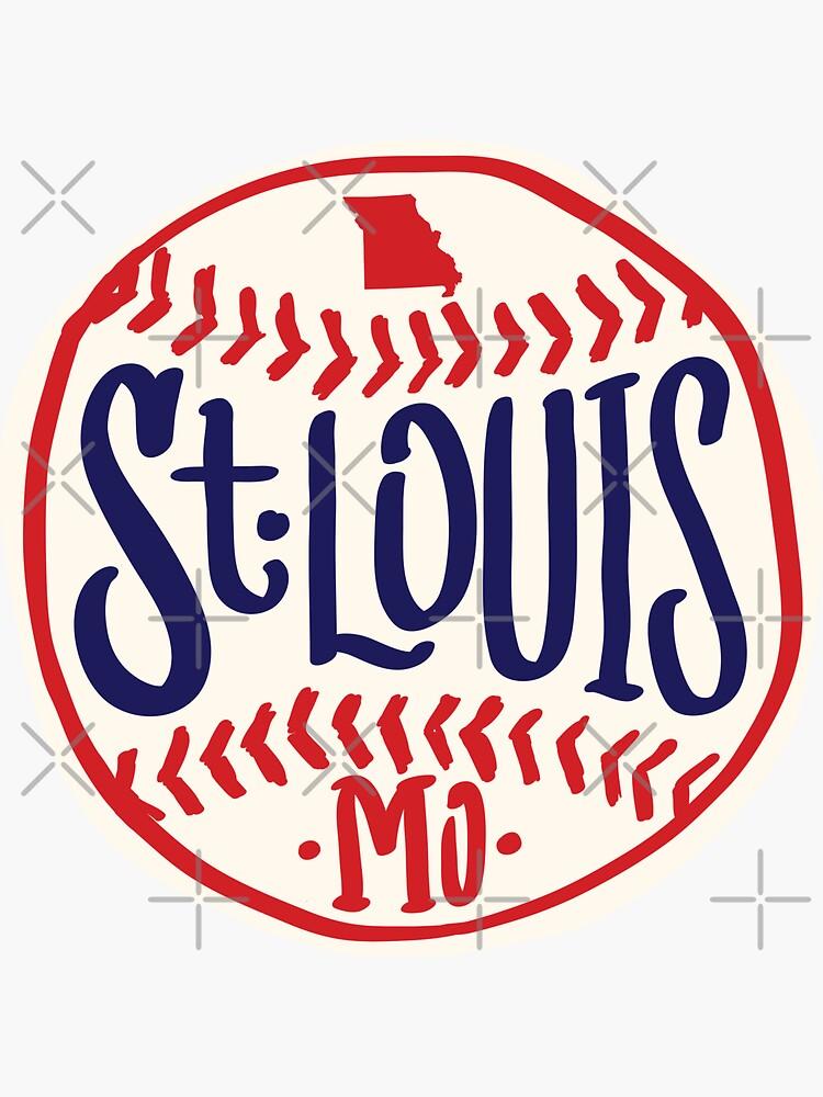 St. Louis Missouri Hand Drawn Script baseball Design by thegoodwordsco