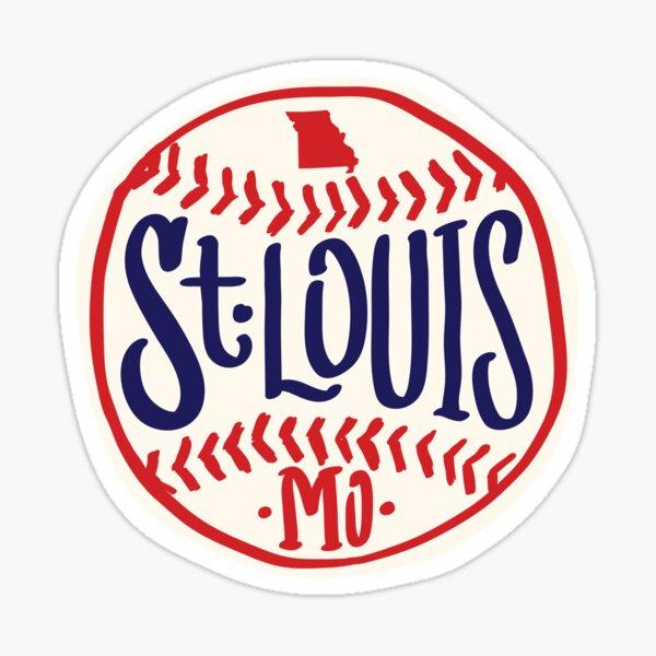 St. Louis Missouri Hand Drawn Script baseball Design Sticker