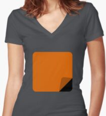 Orange is the New Black Design Women's Fitted V-Neck T-Shirt