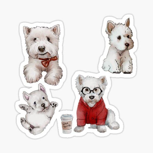 Westies Dogs Sticker Set Sticker