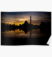 Floating Mosque Poster