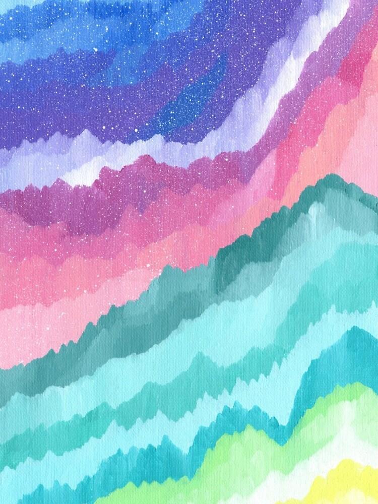 Acrylic Mountains #1 by emmaallardsmith