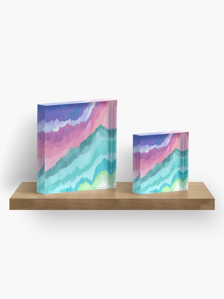 Alternate view of Acrylic Mountains #1 Acrylic Block
