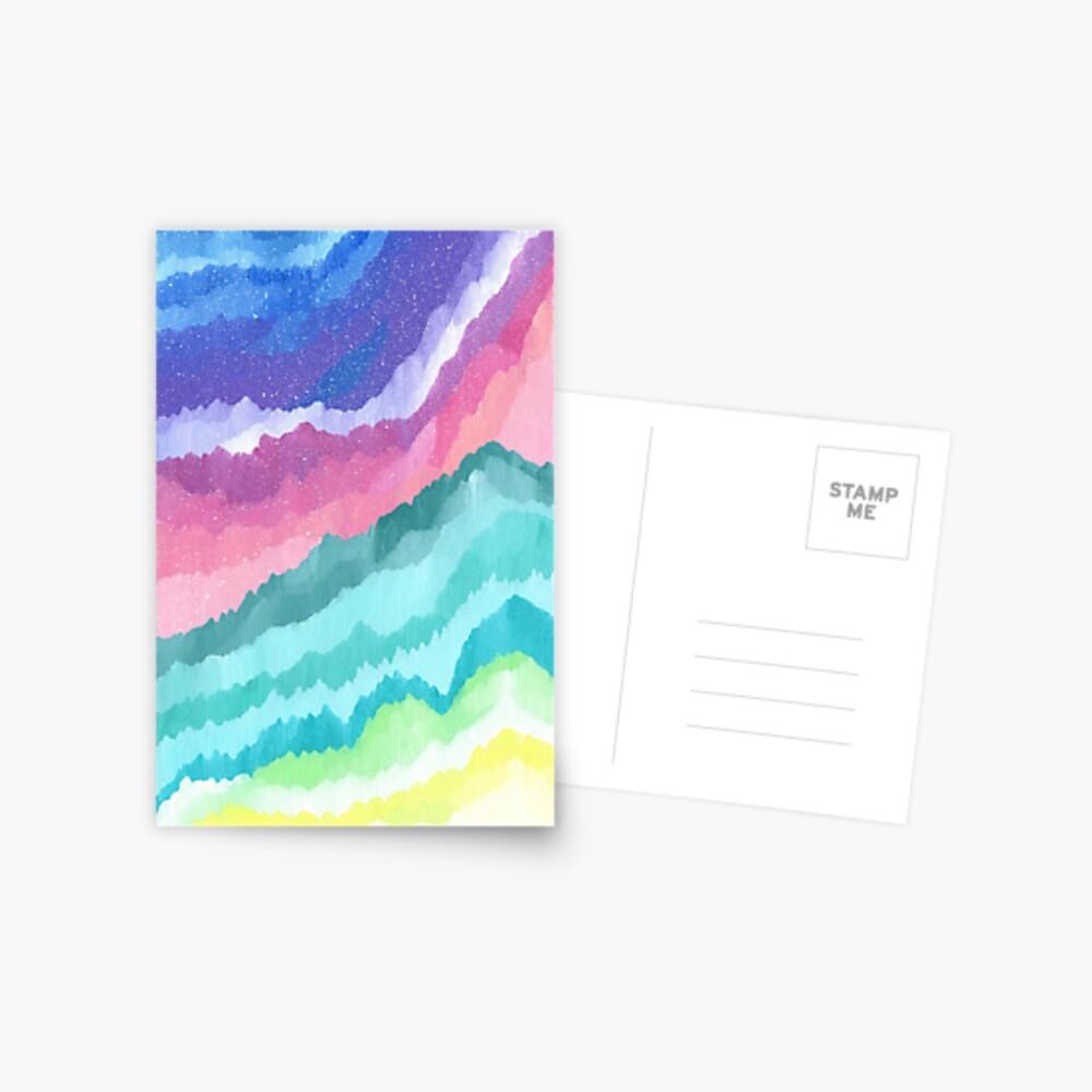 Acrylic Mountains #1 Postcard