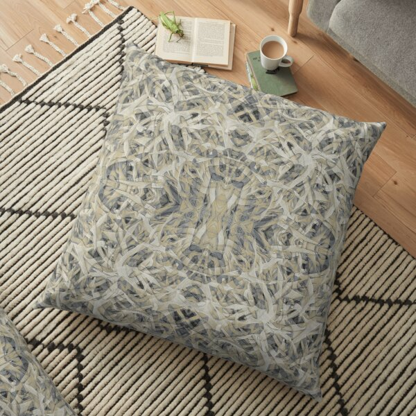 MONTANA ELK ANTLERS AFTER MATING SEASON 3 Floor Pillow