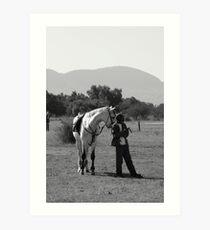 Horse and Groom Art Print