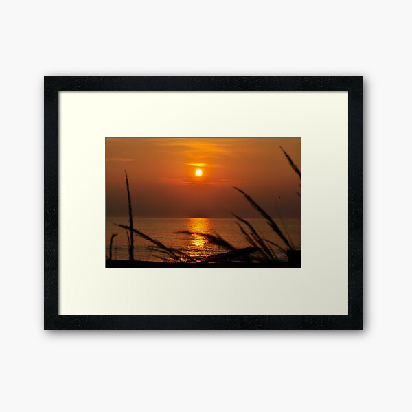 Simple Sunrise Framed Art Print
