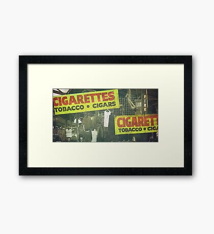 Where There's Smoke Framed Print