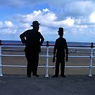 Laurel and Hardy Silhouette - Redcar, North Yorkshire by Bev Pascoe