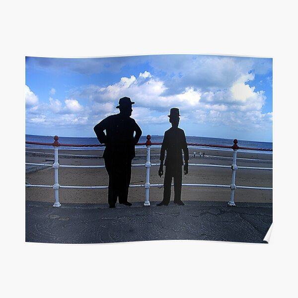 Laurel and Hardy Silhouette - Redcar, North Yorkshire Poster