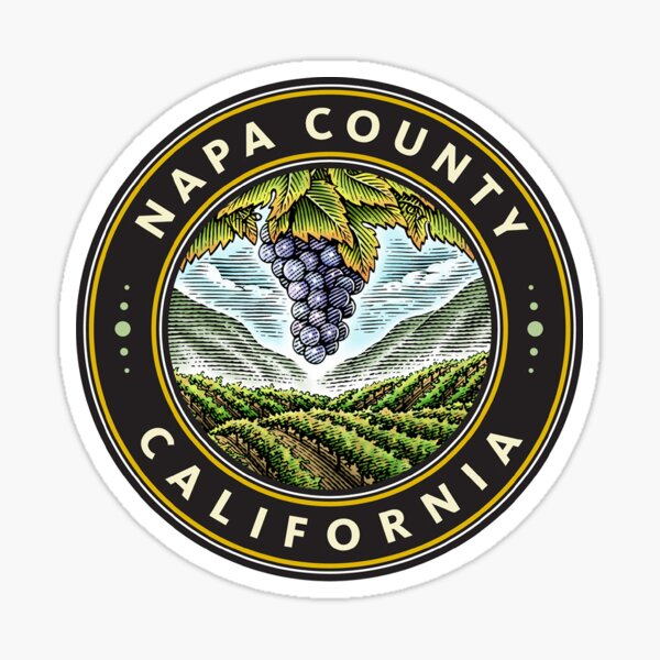 Seal of Napa County, California Sticker