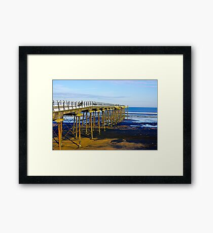 All Alone on the Pier Framed Print