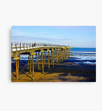 All Alone on the Pier Canvas Print