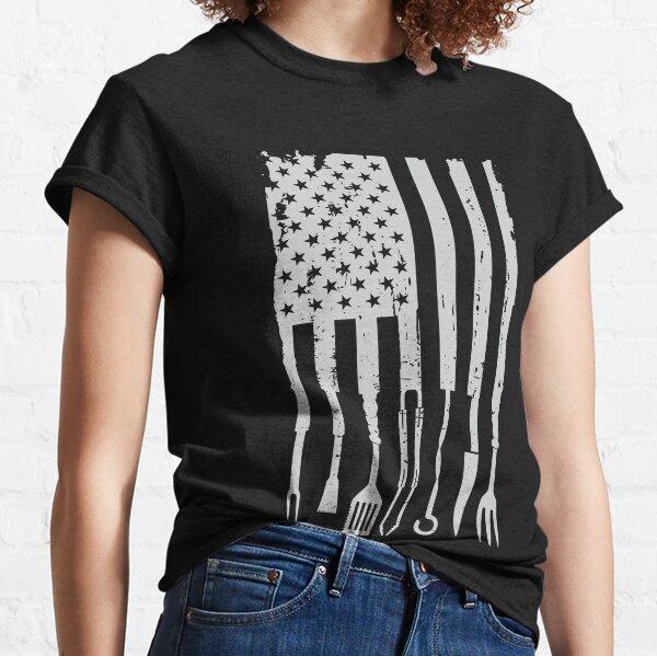 BBQ Smoker Grilling Pitmaster Barbecue American Flag T-Shirt Classic T-Shirt