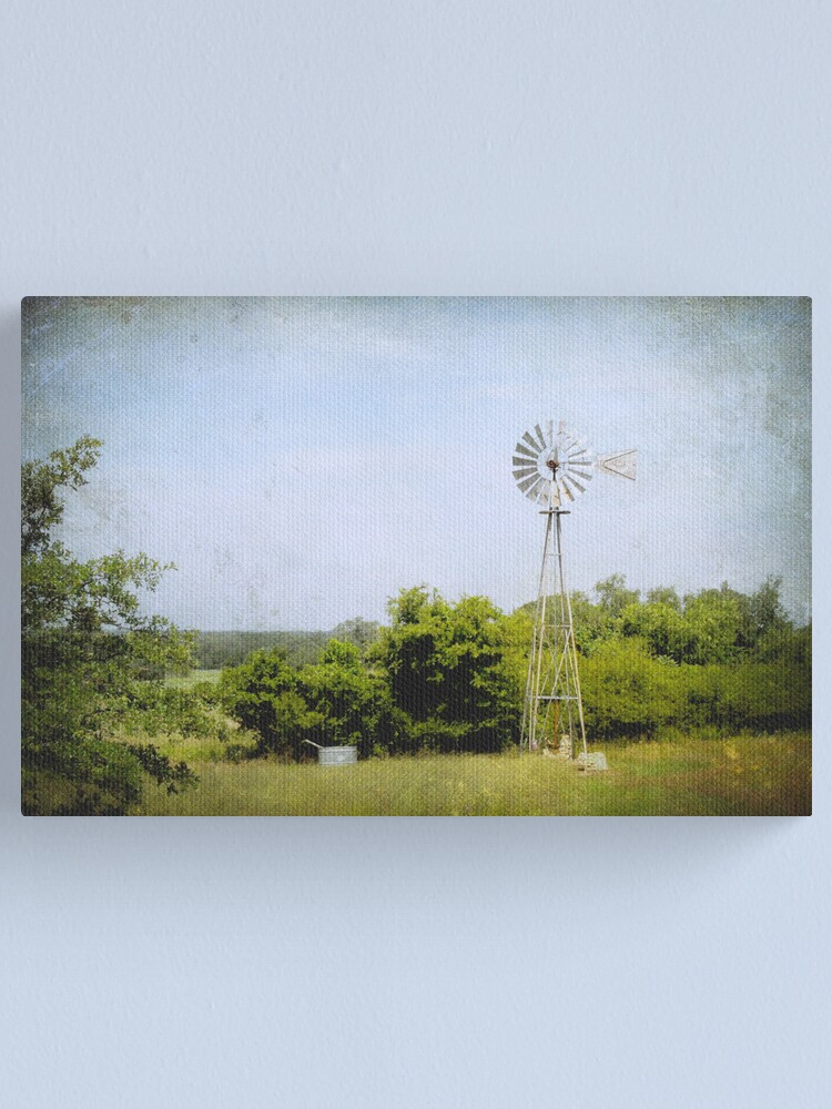 Alternate view of Texas Windmill Canvas Print