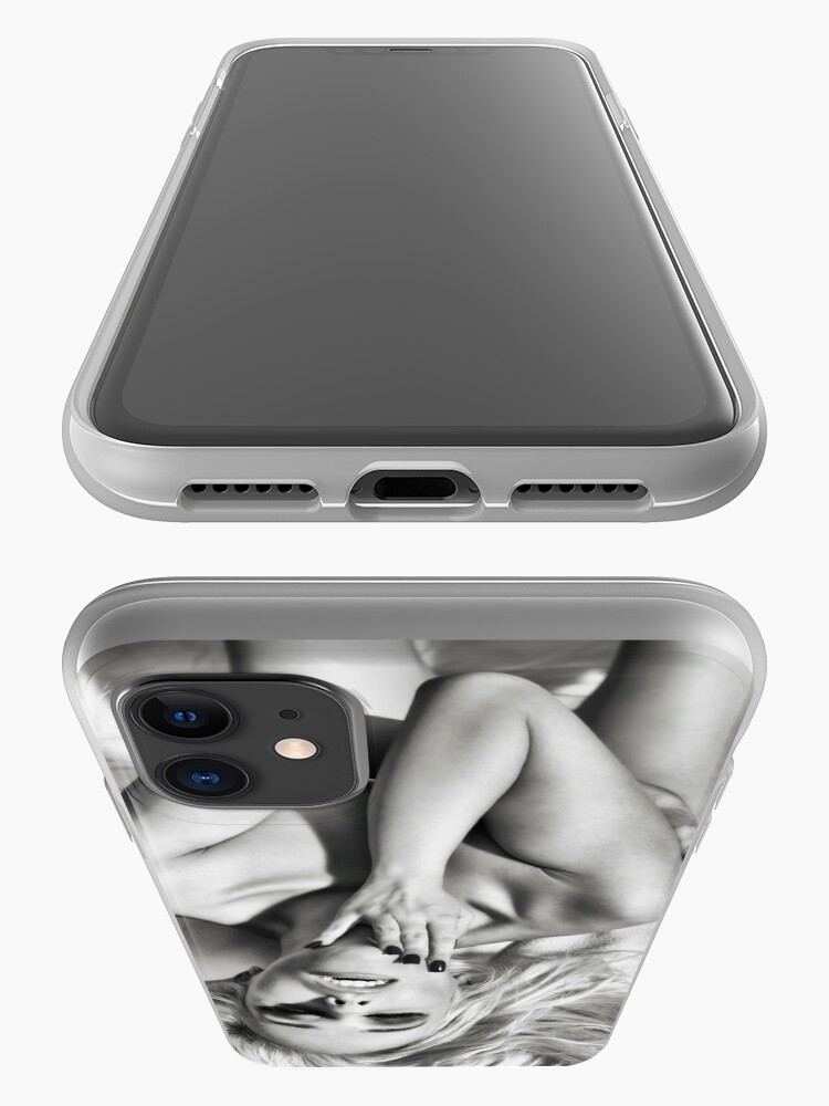 Alternate view of Erotic Nude Platinum Blonde - Black & White ~  Shades Of Grey Sexy Sultry Erotic Fashion Beauty Editorial Art Nude of a Woman iPhone Case & Cover