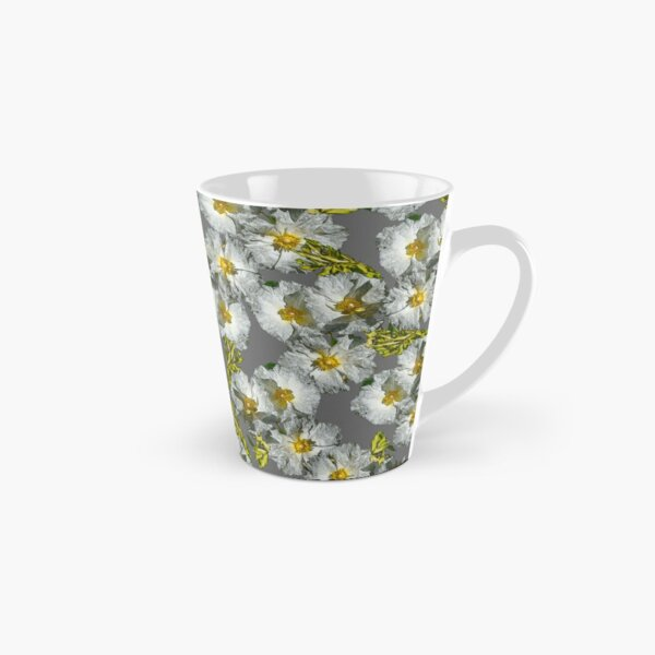 SUMMER WHITE ROCKROSE SIMPLE PATTERN Tall Mug