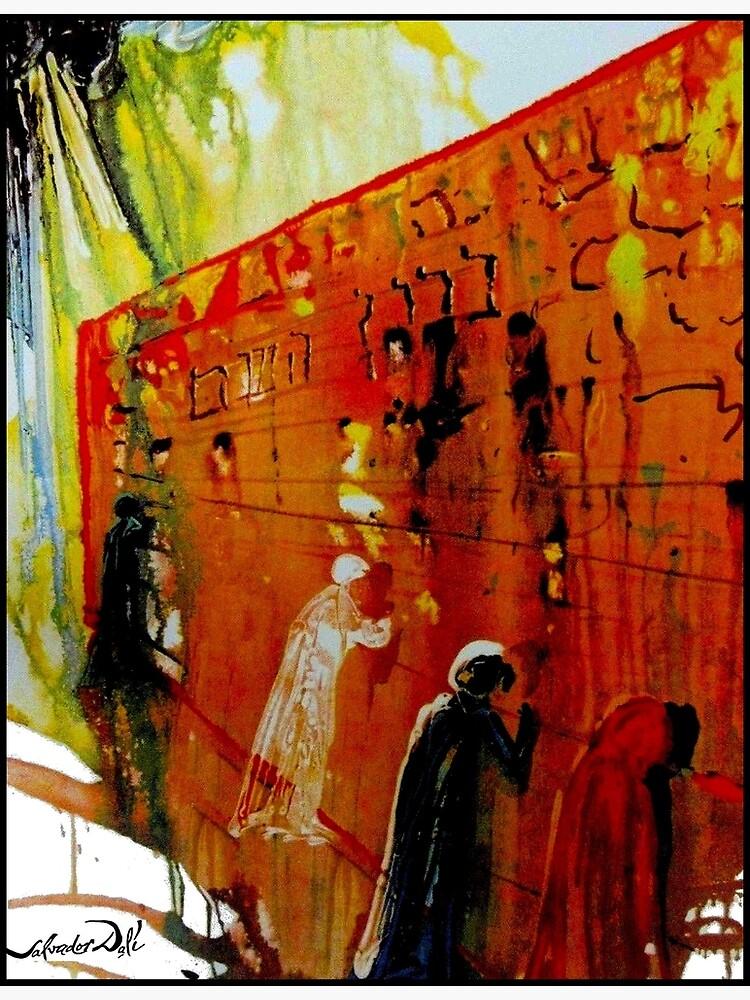 WAILING WALL : Vintage Jerusalem Israel Print by Dali by posterbobs