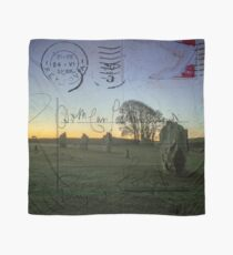 Vintage Style Postcard Avebury Ancient Stones Scarf