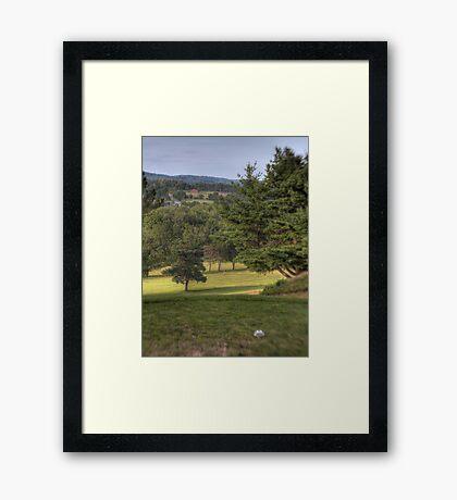 The Lone Golfer Framed Print