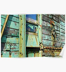 Green rusting & flaking trailer Poster