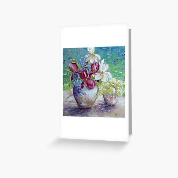 Still life with Gardenflowers Grußkarte