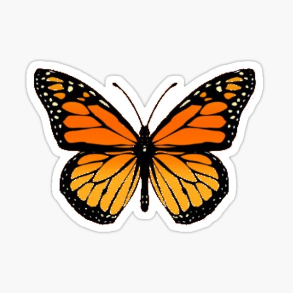 Aesthetic Butterfly Stickers Redbubble