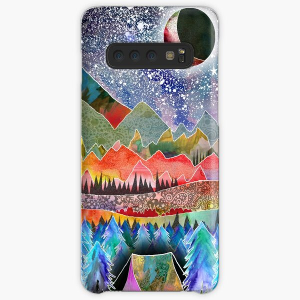 Camping under the moon Samsung Galaxy Snap Case