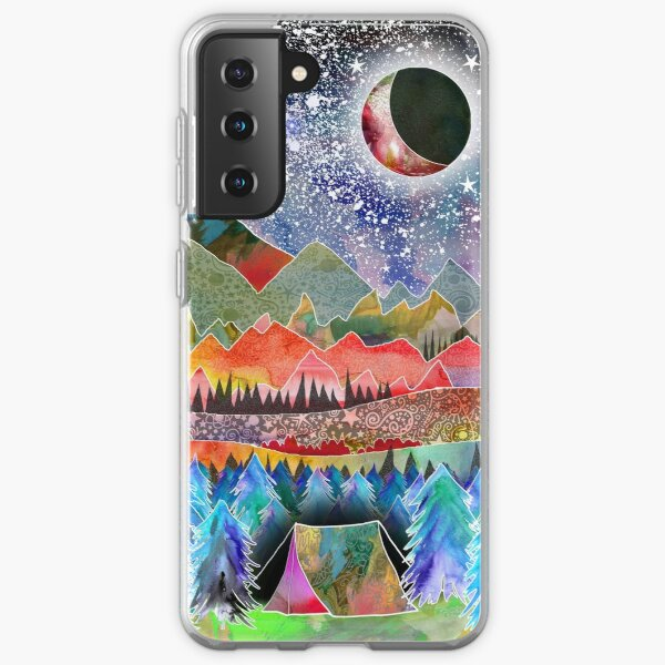 Camping under the moon Samsung Galaxy Soft Case