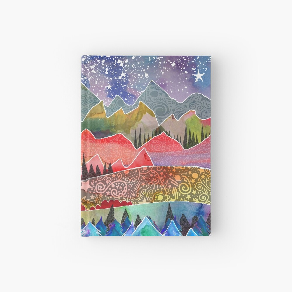 Camping under the moon Hardcover Journal