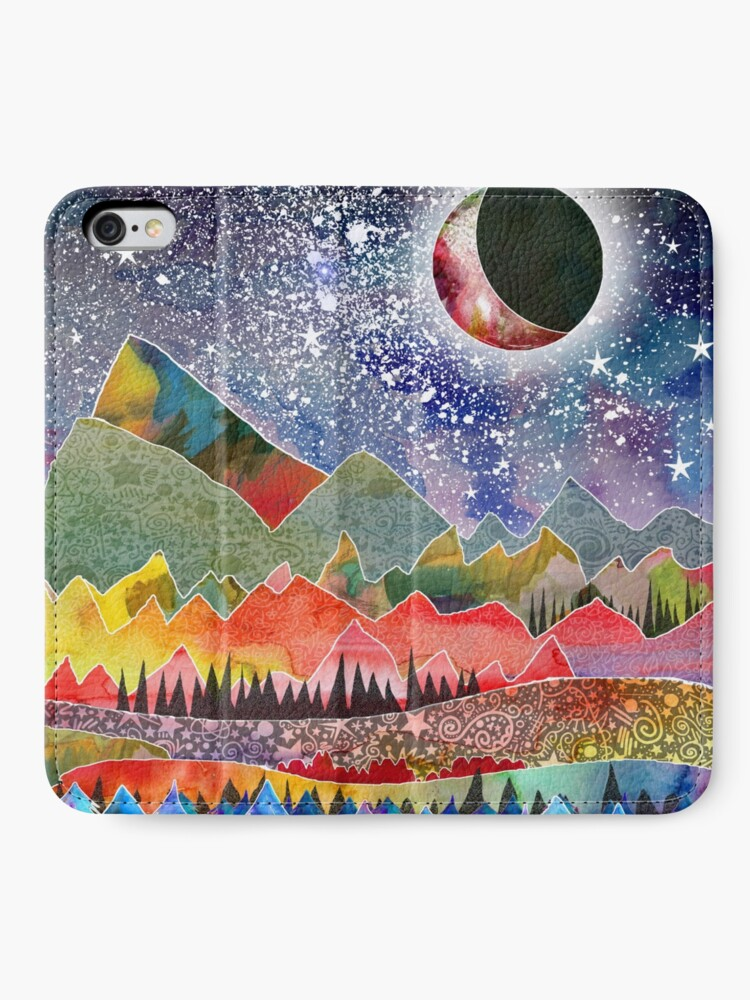 Alternate view of Camping under the moon iPhone Wallet