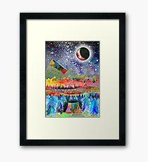 Camping unter dem Mond Gerahmtes Wandbild