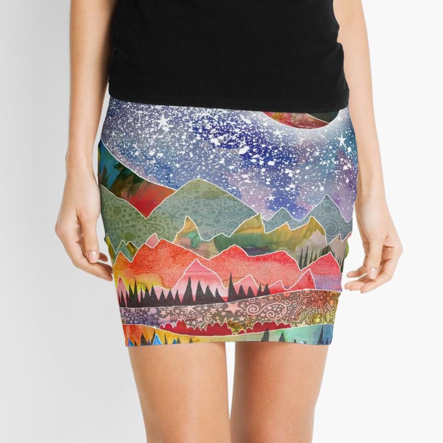 Acampando bajo la luna Minifalda