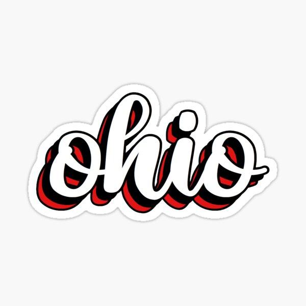 ohio layered Sticker