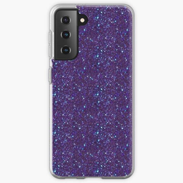 Blue purple glitter  Samsung Galaxy Soft Case