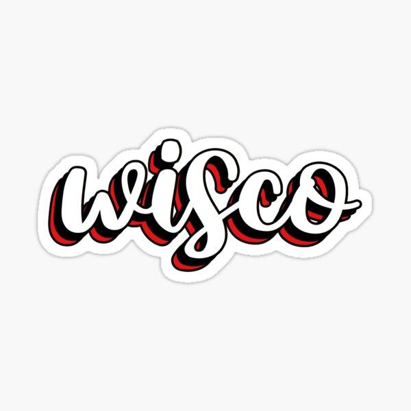 wisco layered Sticker