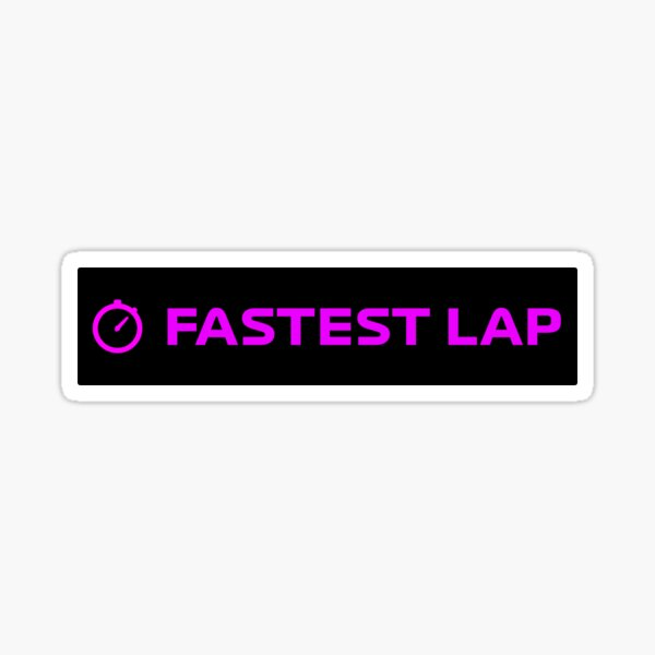 LAP le plus rapide v.2 - F1 Sticker