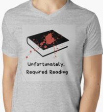 Unfortunately Required Reading Logo V-Neck T-Shirt