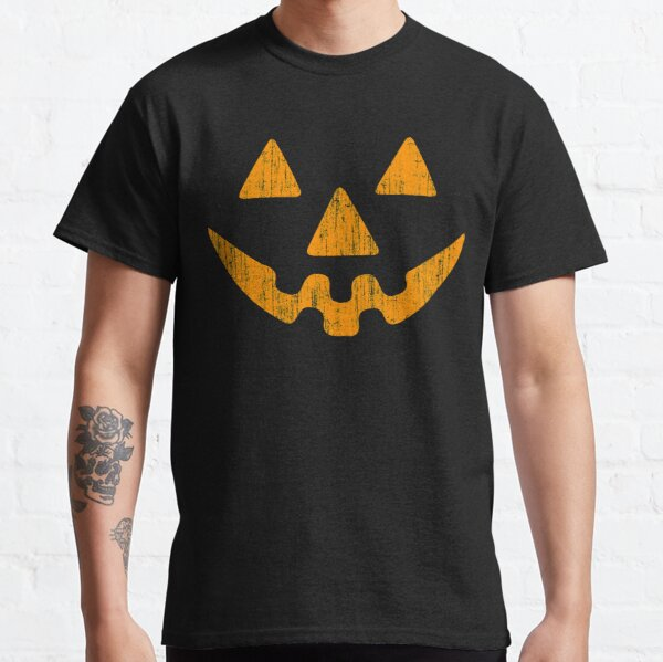 Pumpkin Face Halloween Dark Classic T-Shirt